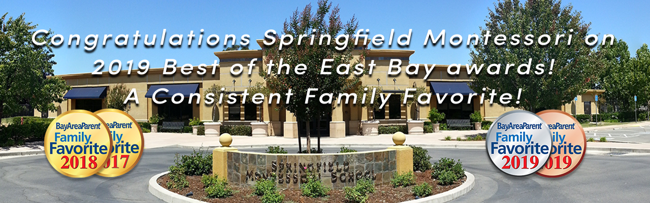 Congratulations Springfield Montessori on 2019 Best of the East Bay awards..